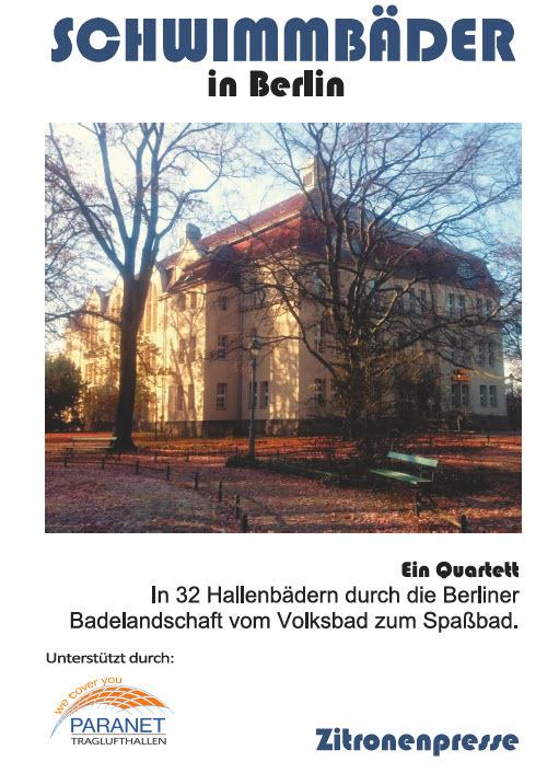 Cover des Quartetts Schwimmbäder in Berlin von Zitronenpresse. Abgebildet das Stadtbad Spandau-Nord.